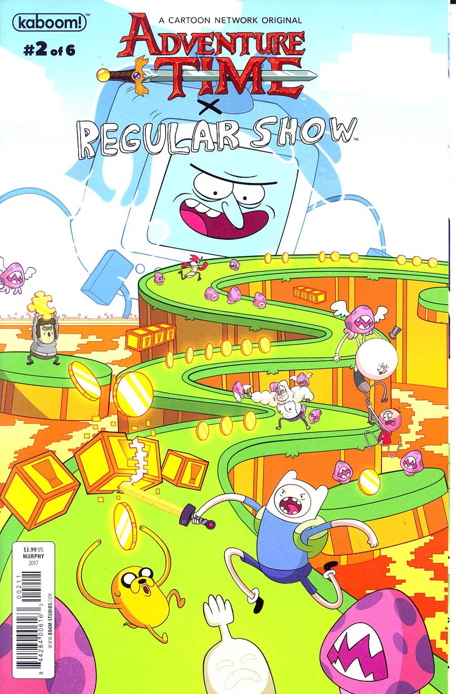 Adventure Time Regular Show #2 Cover A Regular Phil Murphy Connecting Left Cover