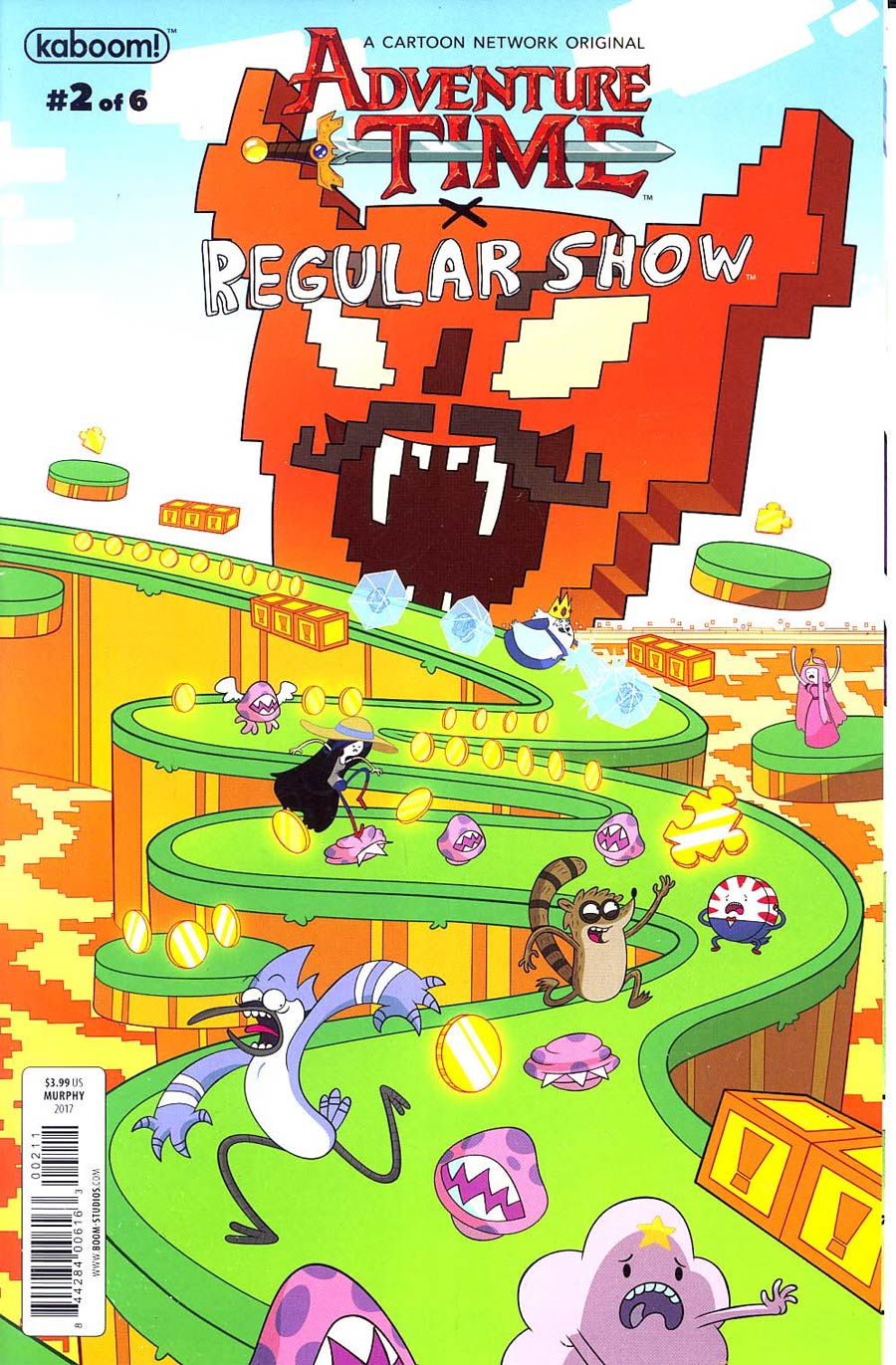Adventure Time Regular Show #2 Cover B Regular Phil Murphy Connecting Right Cover