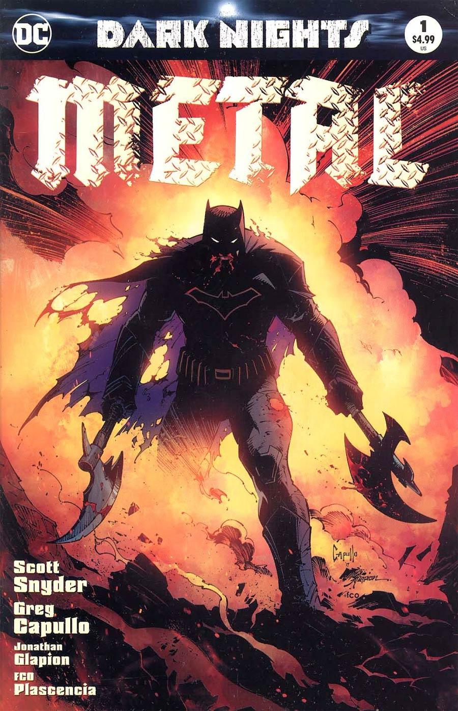 Dark Nights Metal #1 Cover N ComicSketchArt.com Exclusive Greg Capullo Variant Cover