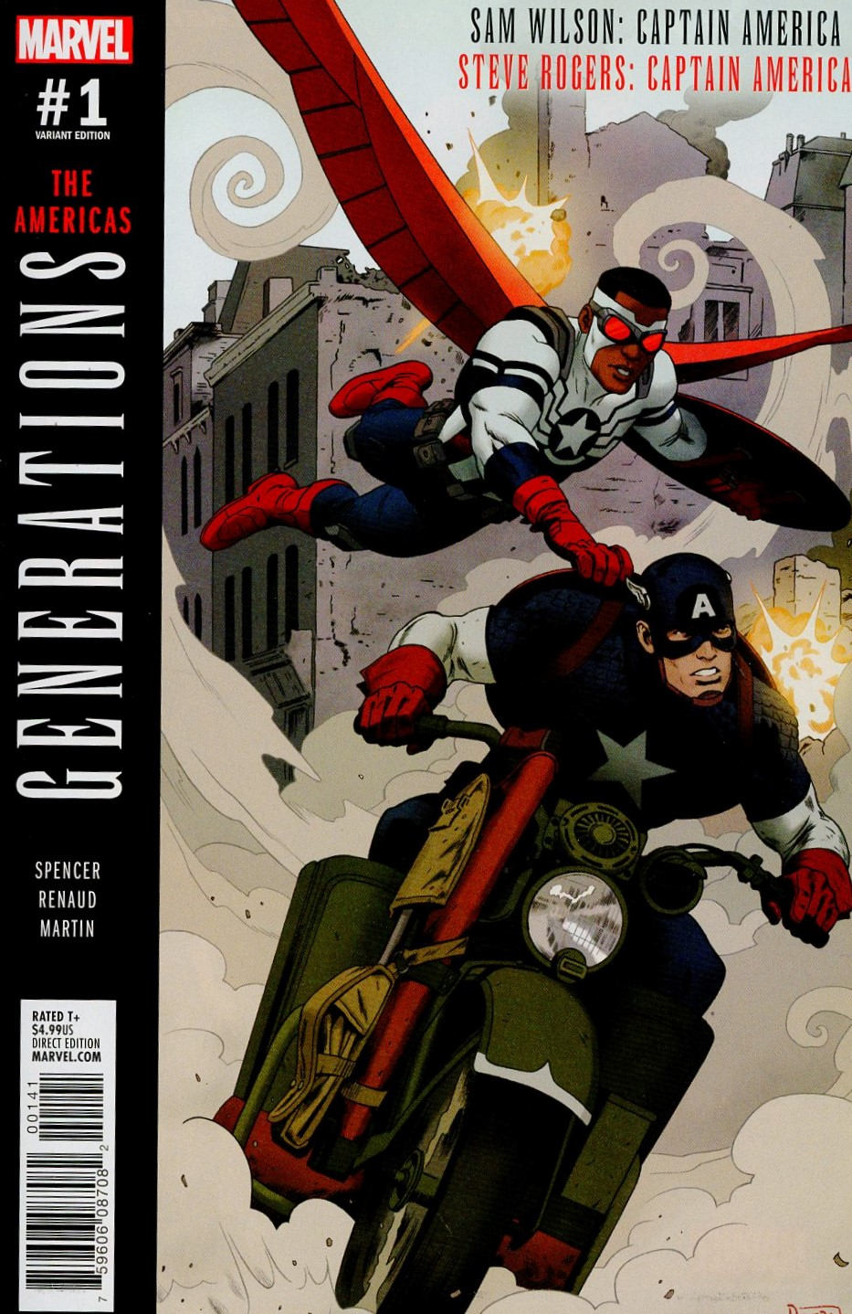 Generations Sam Wilson Captain America & Steve Rogers Captain America #1 Cover C Incentive Paolo Rivera Variant Cover