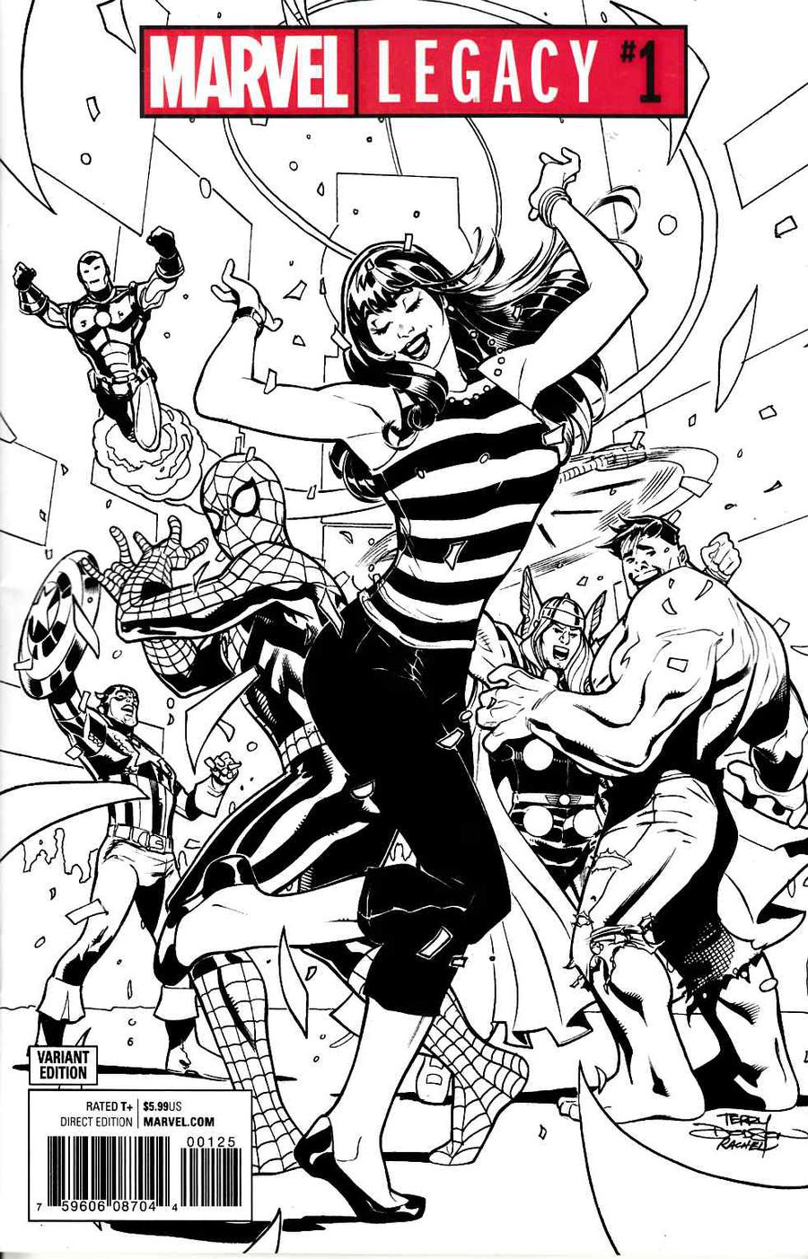 Marvel Legacy #1 Cover O Incentive Terry Dodson Party Sketch Variant Cover