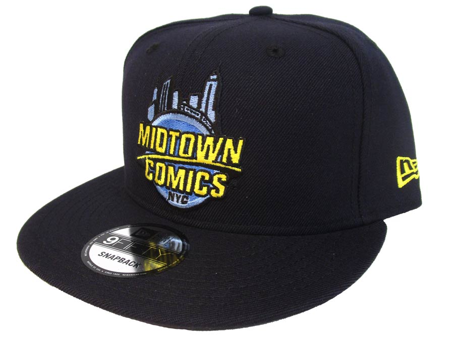 Midtown Comics Logo Mens Navy 950 Snapback Cap Powered By New Era