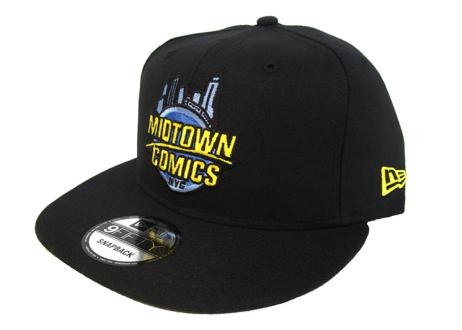 Midtown Comics Logo Mens Black 950 Snapback Cap Powered By New Era