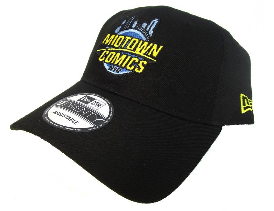 Midtown Comics Logo Mens Black 920 Buckle Strap Cap Powered By New Era