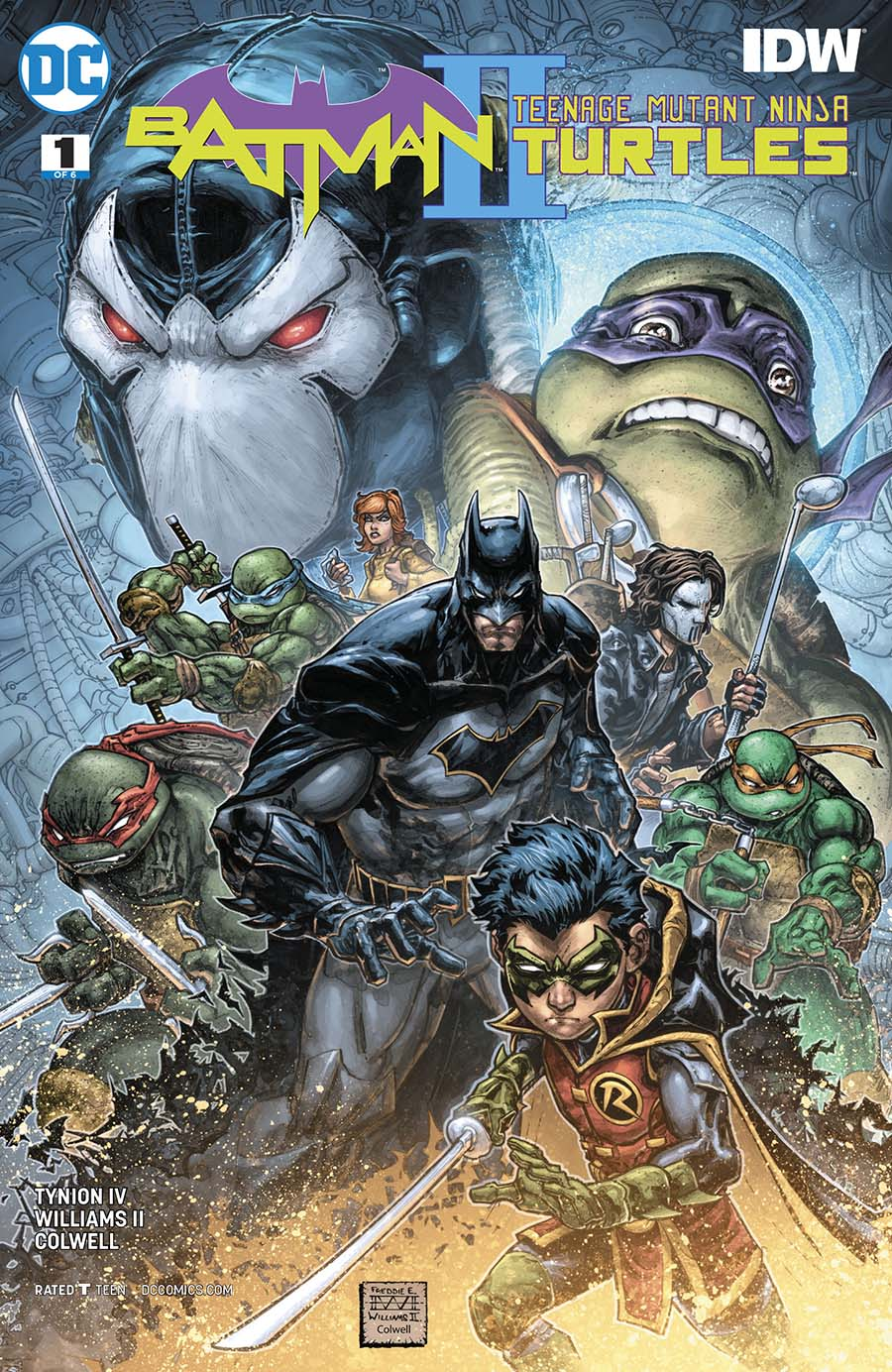 Batman Teenage Mutant Ninja Turtles II #1 Cover A Regular Freddie E Williams II Cover