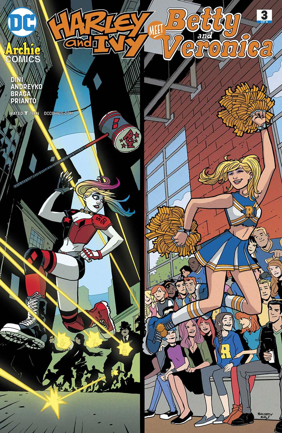 Harley & Ivy Meet Betty & Veronica #3 Cover A Regular Sandy Jarrell Cover