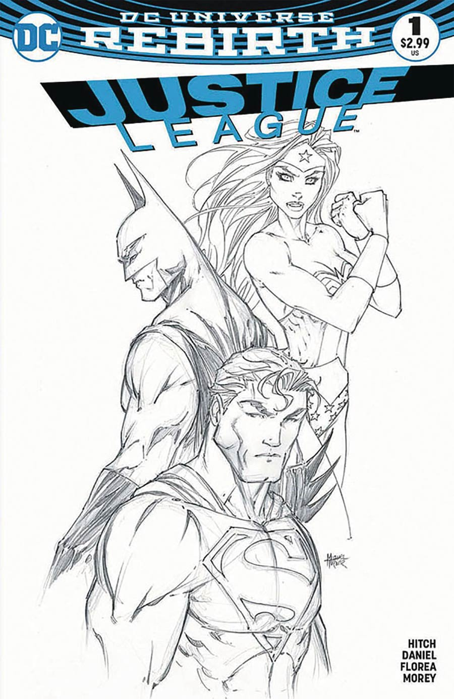 Justice League Vol 3 #1 Cover M Variant Michael Turner & Peter Steigerwald Aspen Comics Color & Sketch Cover Set