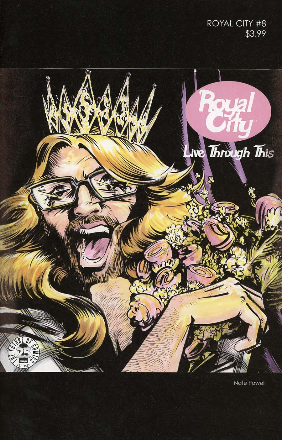 Royal City #8 Cover B Variant Nate Powell 1990s Album Homage Cover