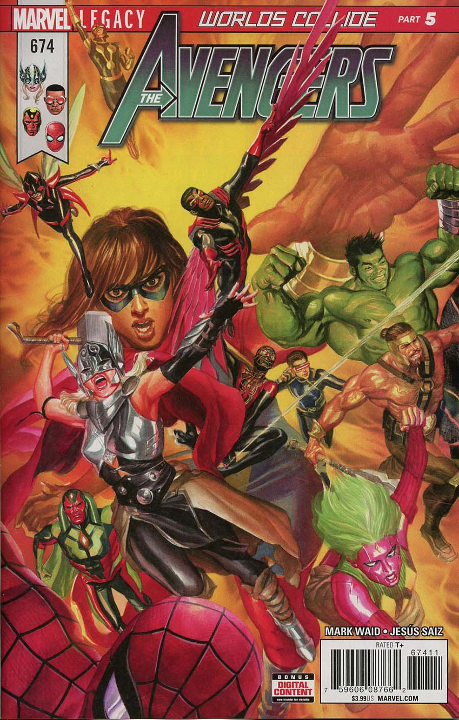 Avengers Vol 6 #674 Cover A Regular Alex Ross Cover (Marvel Legacy Tie-In)
