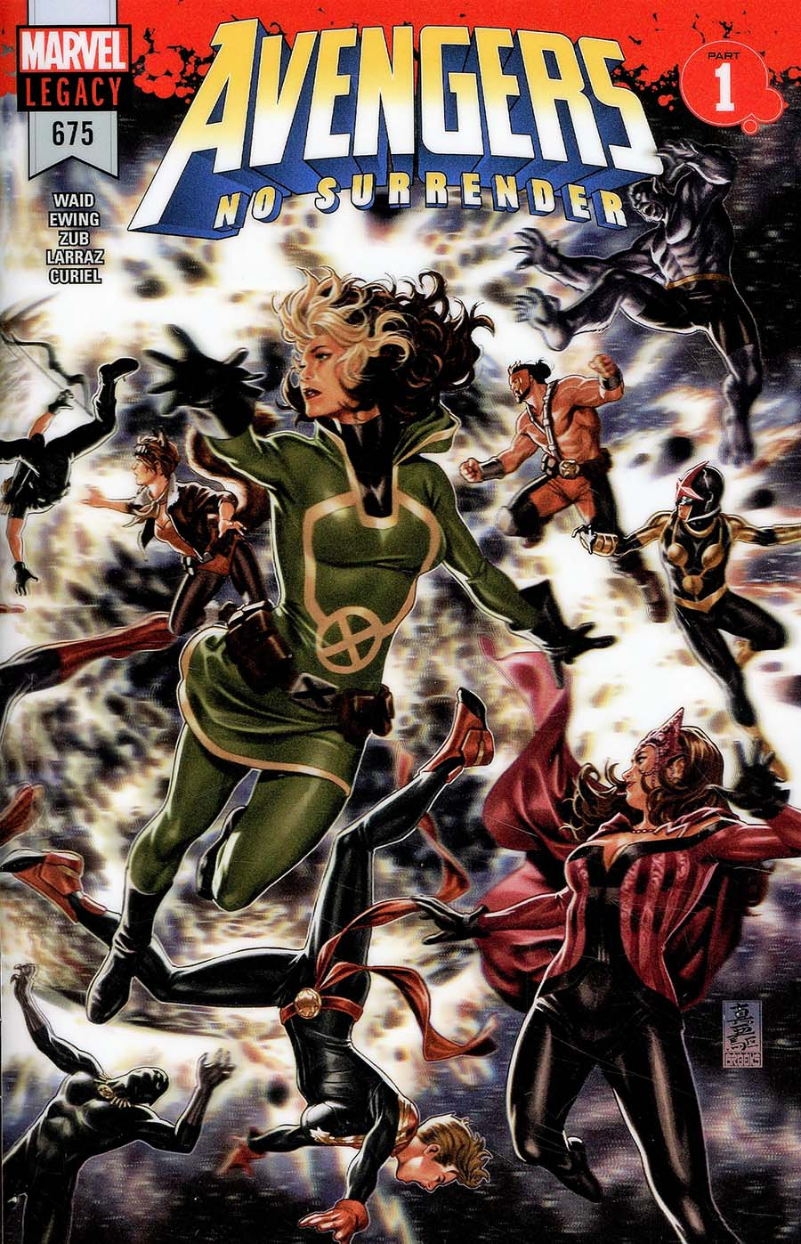 Avengers Vol 6 #675 Cover A 1st Ptg Regular Mark Brooks 3D Lenticular Wraparound Cover (No Surrender Part 1)(Marvel Legacy Tie-In)