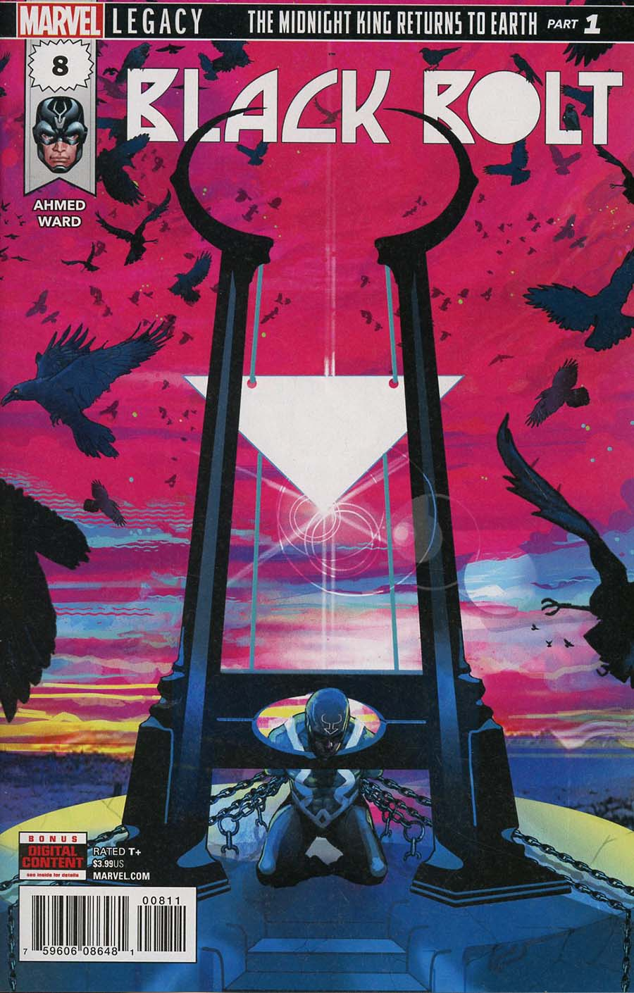 Black Bolt #8 Cover A Regular Christian Ward Cover (Marvel Legacy Tie-In)