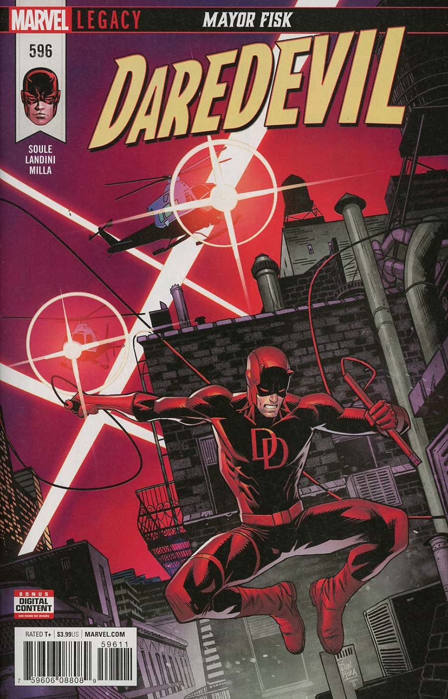 Daredevil Vol 5 #596 Cover A 1st Ptg Regular Dan Mora Cover (Marvel Legacy Tie-In)
