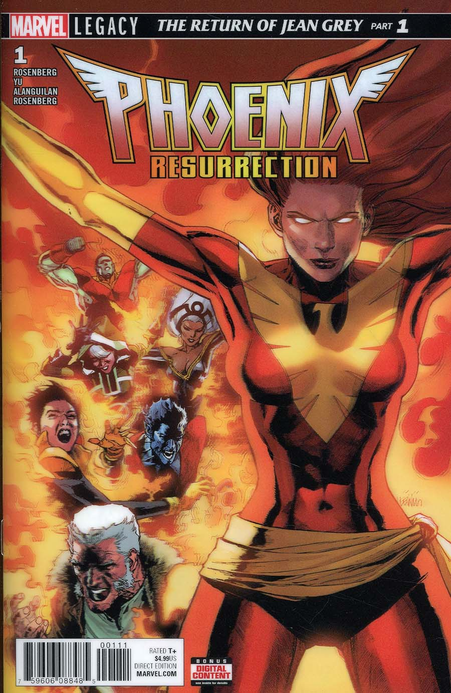 Phoenix Resurrection Return Of (Adult) Jean Grey #1 Cover A 1st Ptg Regular Leinil Francis Yu 3D Lenticular Cover (Marvel Legacy Tie-In)