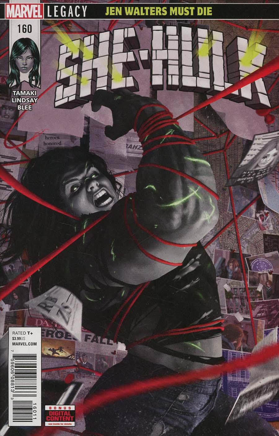 She-Hulk Vol 3 #160 Cover A Regular Rahzzah Cover (Marvel Legacy Tie-In)