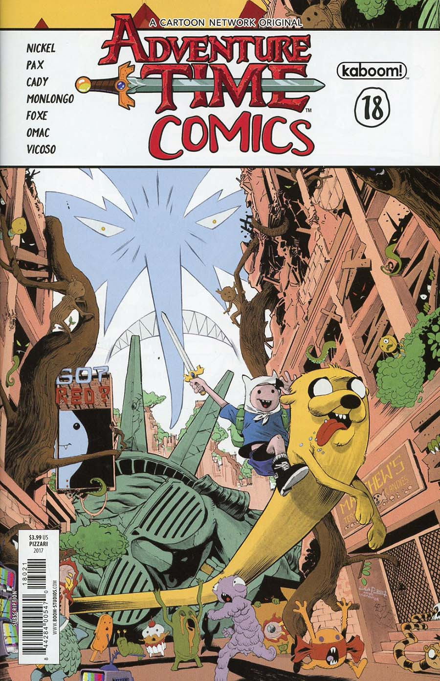 Adventure Time Comics #18 Cover B Variant Luca Pizarri Subscription Cover