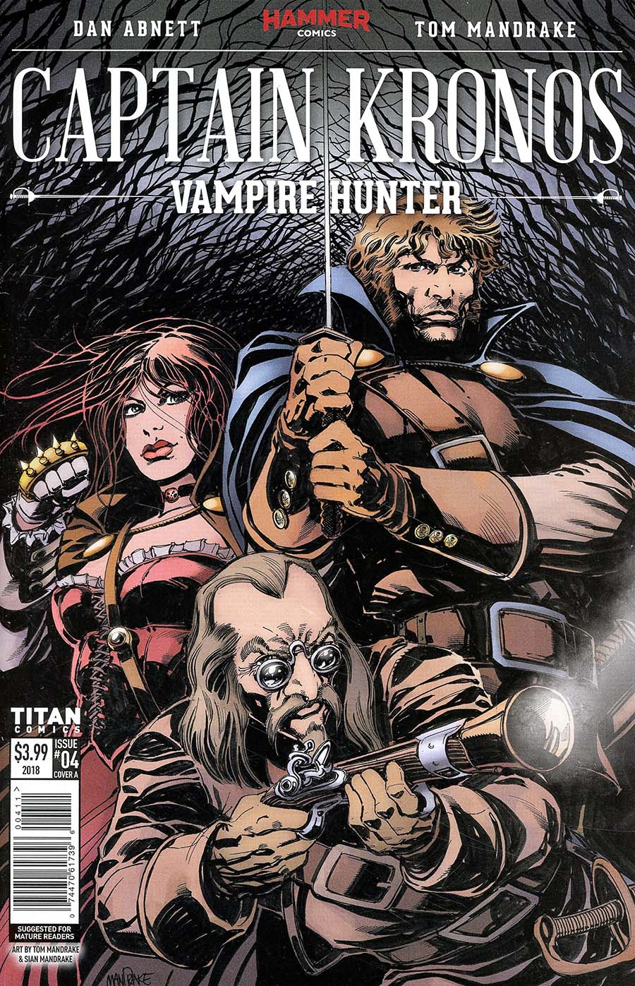 Hammer Comics Captain Kronos Vampire Hunter #4 Cover A Regular Tom Mandrake Cover