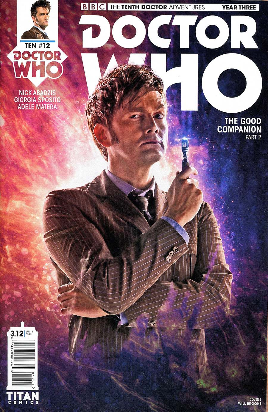 Doctor Who 10th Doctor Year Three #12 Cover B Variant Photo Cover