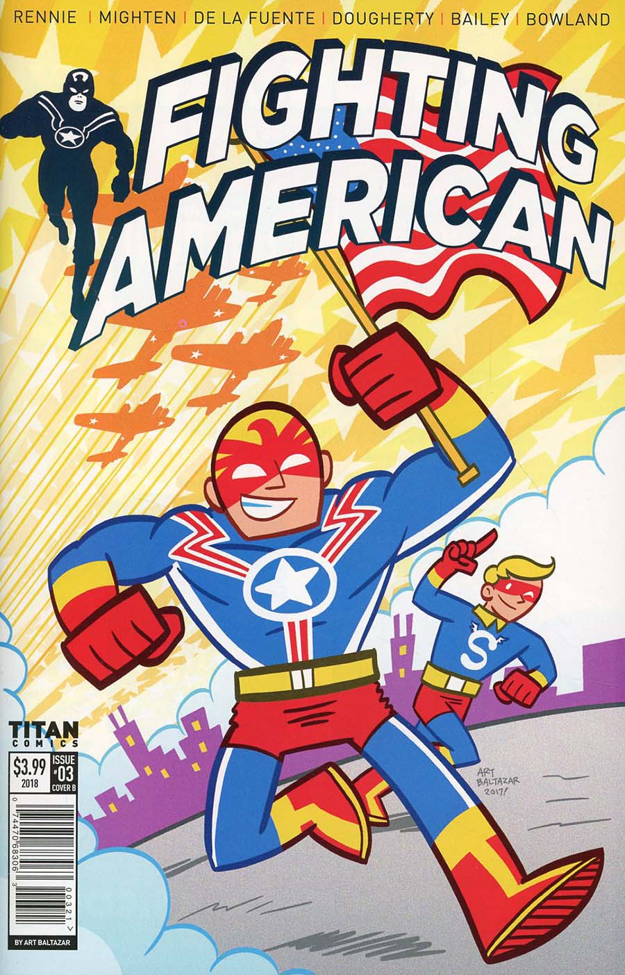 Fighting American Vol 4 #3 Cover B Variant Art Balthazar Cover