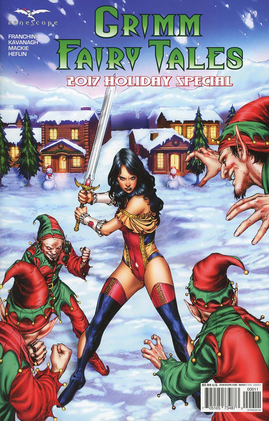 Grimm Fairy Tales 2017 Holiday Special Cover A Ediano Silva
