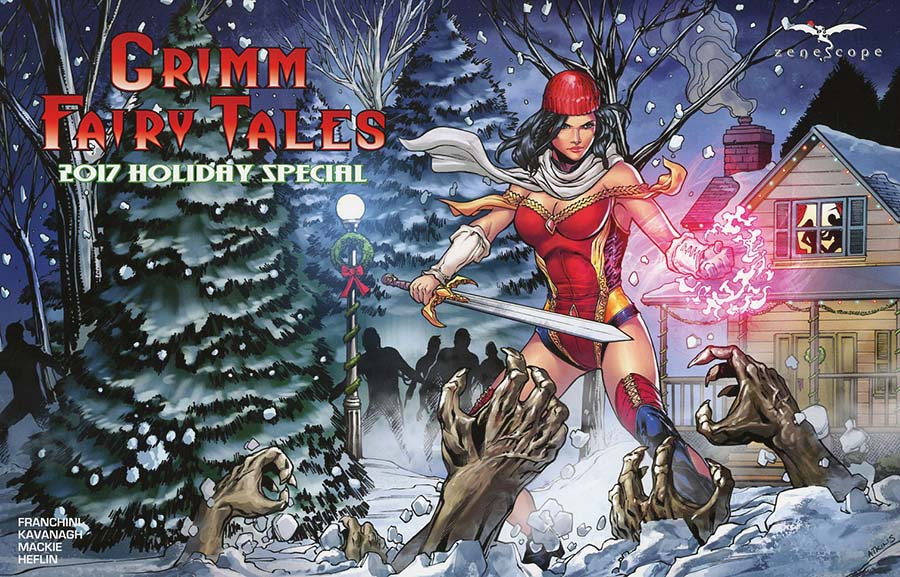 Grimm Fairy Tales 2017 Holiday Special Cover B Robert Atkins
