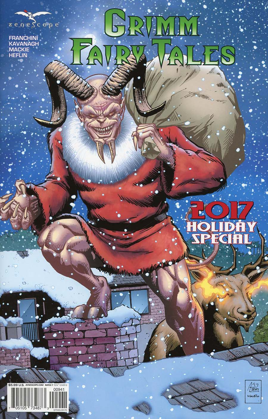 Grimm Fairy Tales 2017 Holiday Special Cover D Anthony Spay