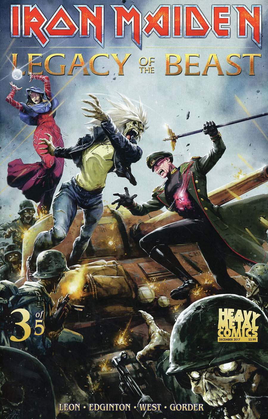 Iron Maiden Legacy Of The Beast #3 Cover A Regular Santi Casas Cover