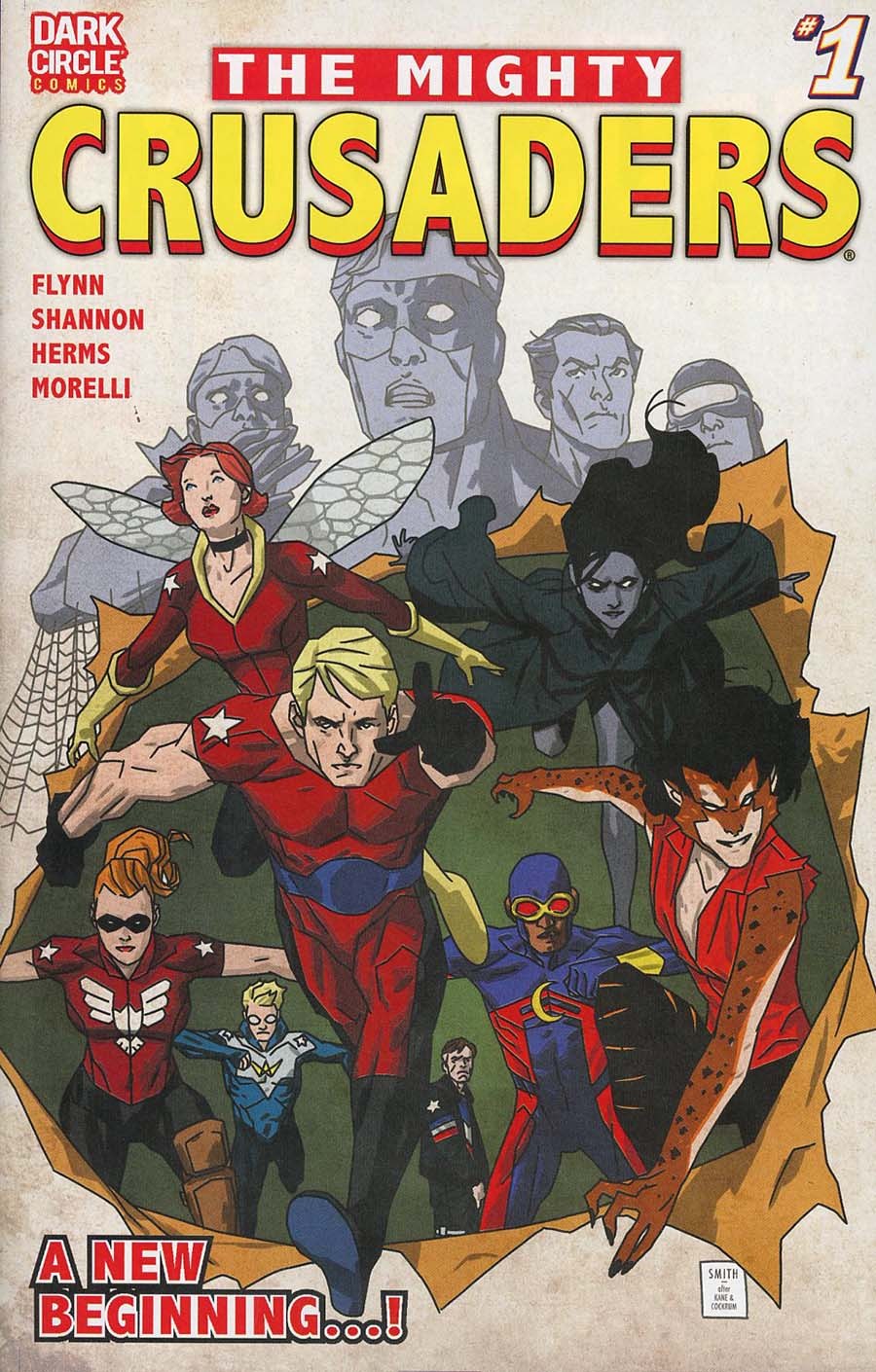 Mighty Crusaders Vol 4 #1 Cover B Variant Matthew Dow Smith Cover