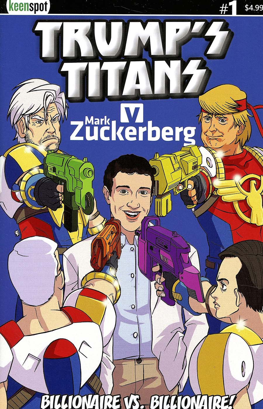 Trumps Titans vs Mark Zuckerberg #1 Cover A Regular Mark Zuckerberg Outnumbered Cover