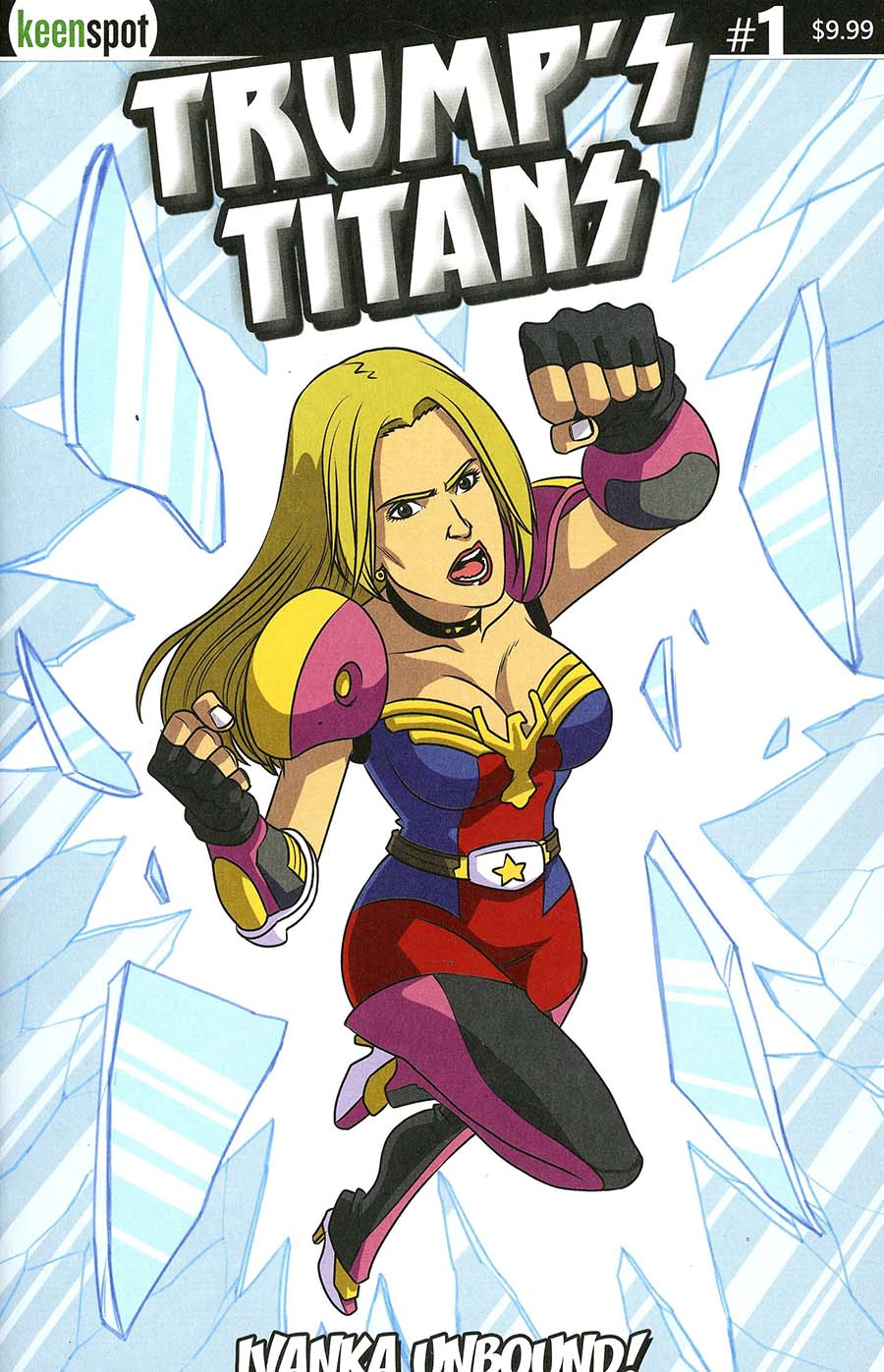 Trumps Titans vs Mark Zuckerberg #1 Cover B Variant Ivanka Trump Unbound Cover