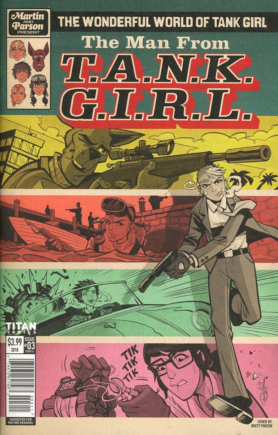 Wonderful World Of Tank Girl #3 Cover A Regular Brett Parson Cover