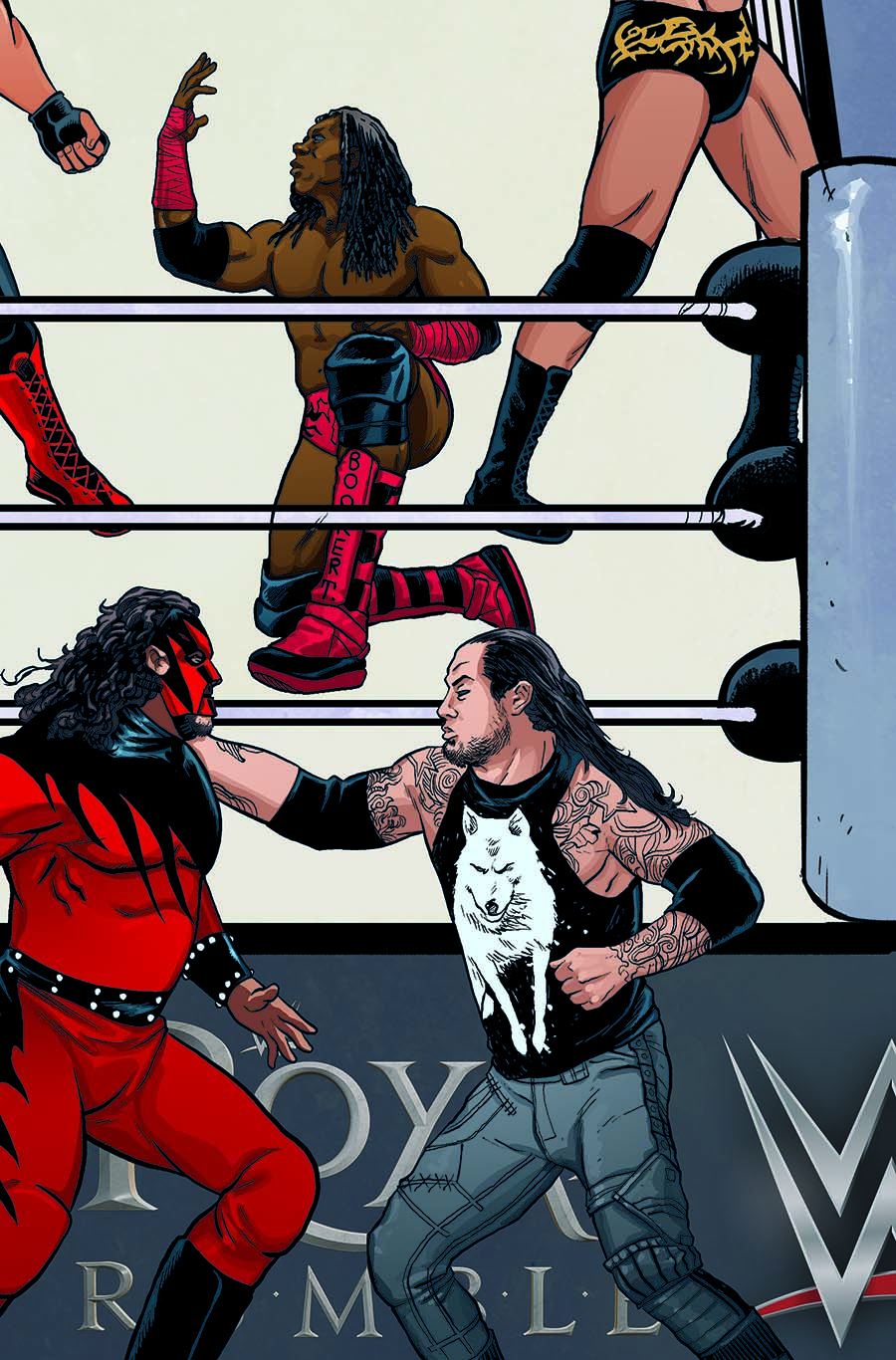 WWE #12 Cover C Variant Brent Schoonover Royal Rumble Connecting Cover