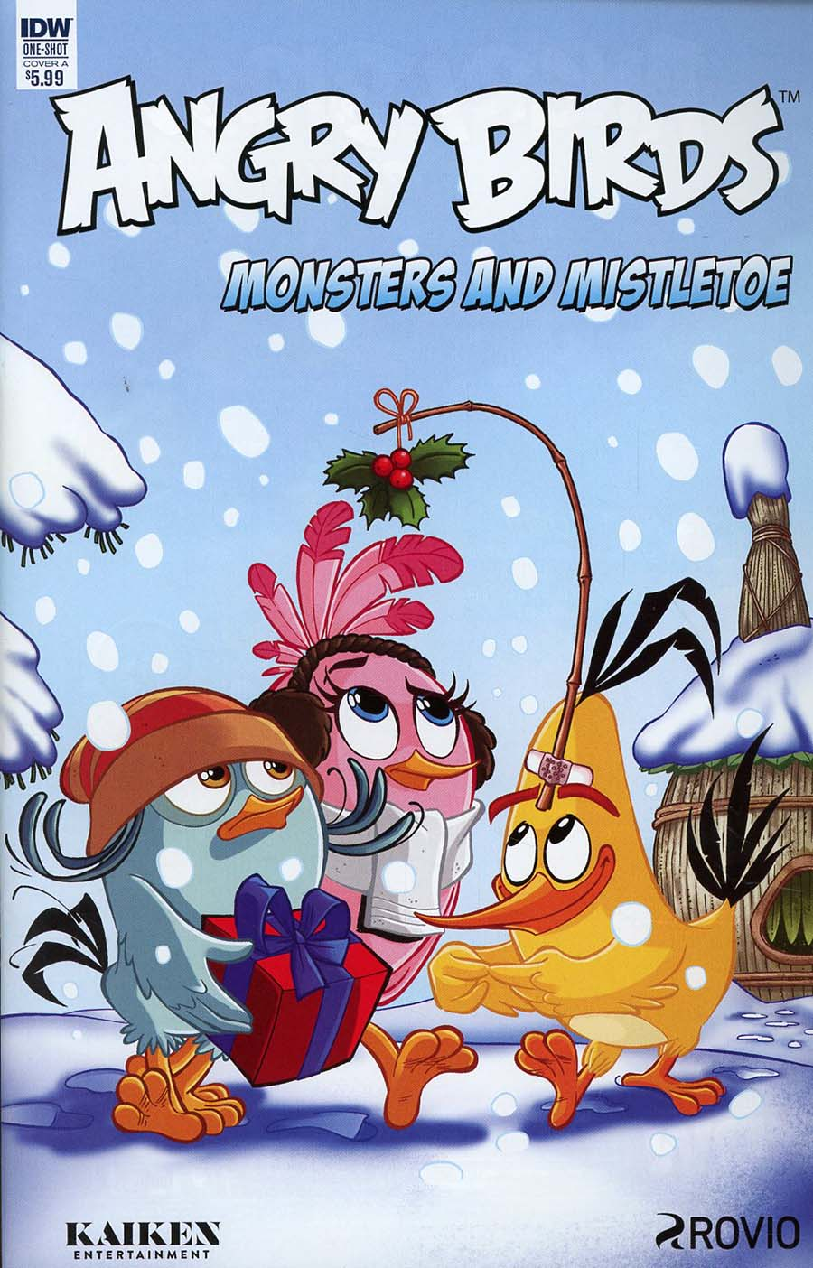 Angry Birds Comics Quarterly Monsters And Mistletoe Cover A Regular Paco Rodriques Cover