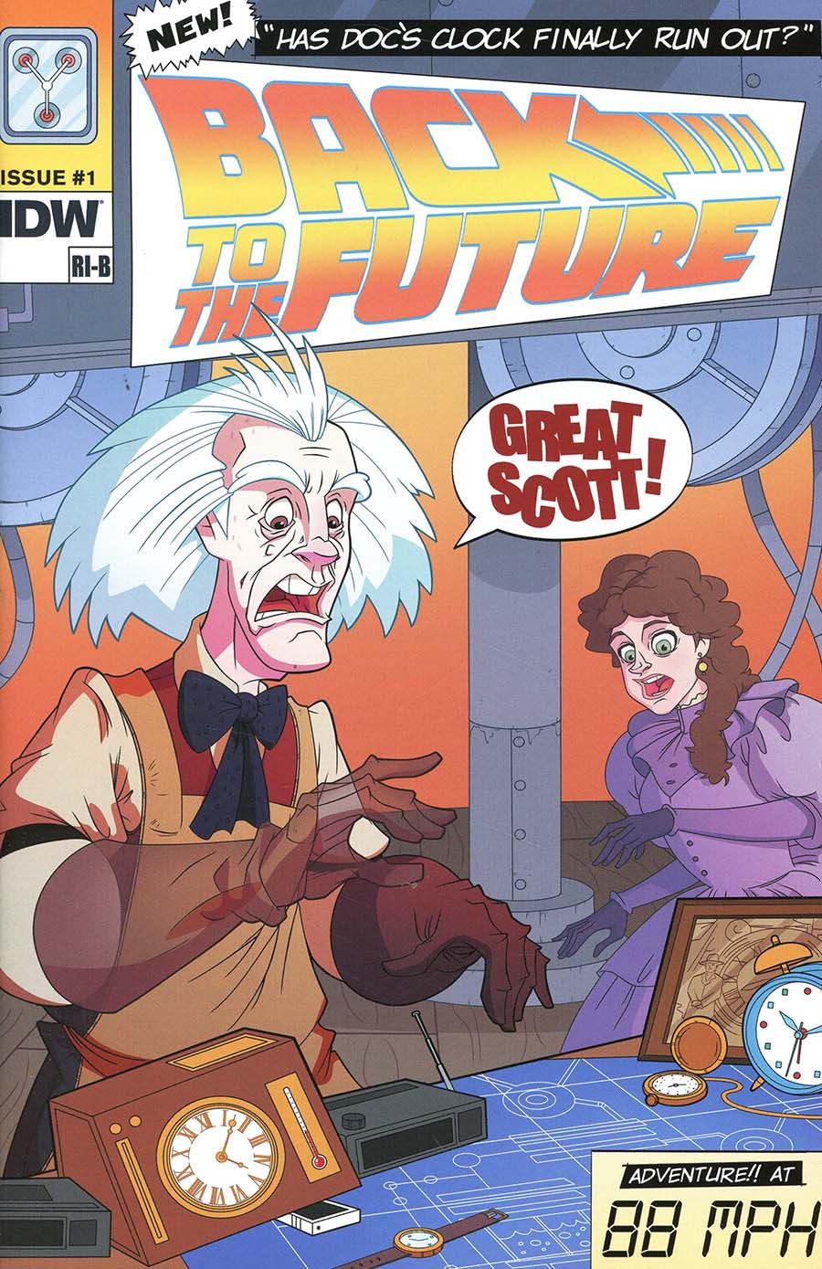 Back To The Future Tales From The Time Train #1 Cover B Variant Philip Murphy Artists Edition Cover