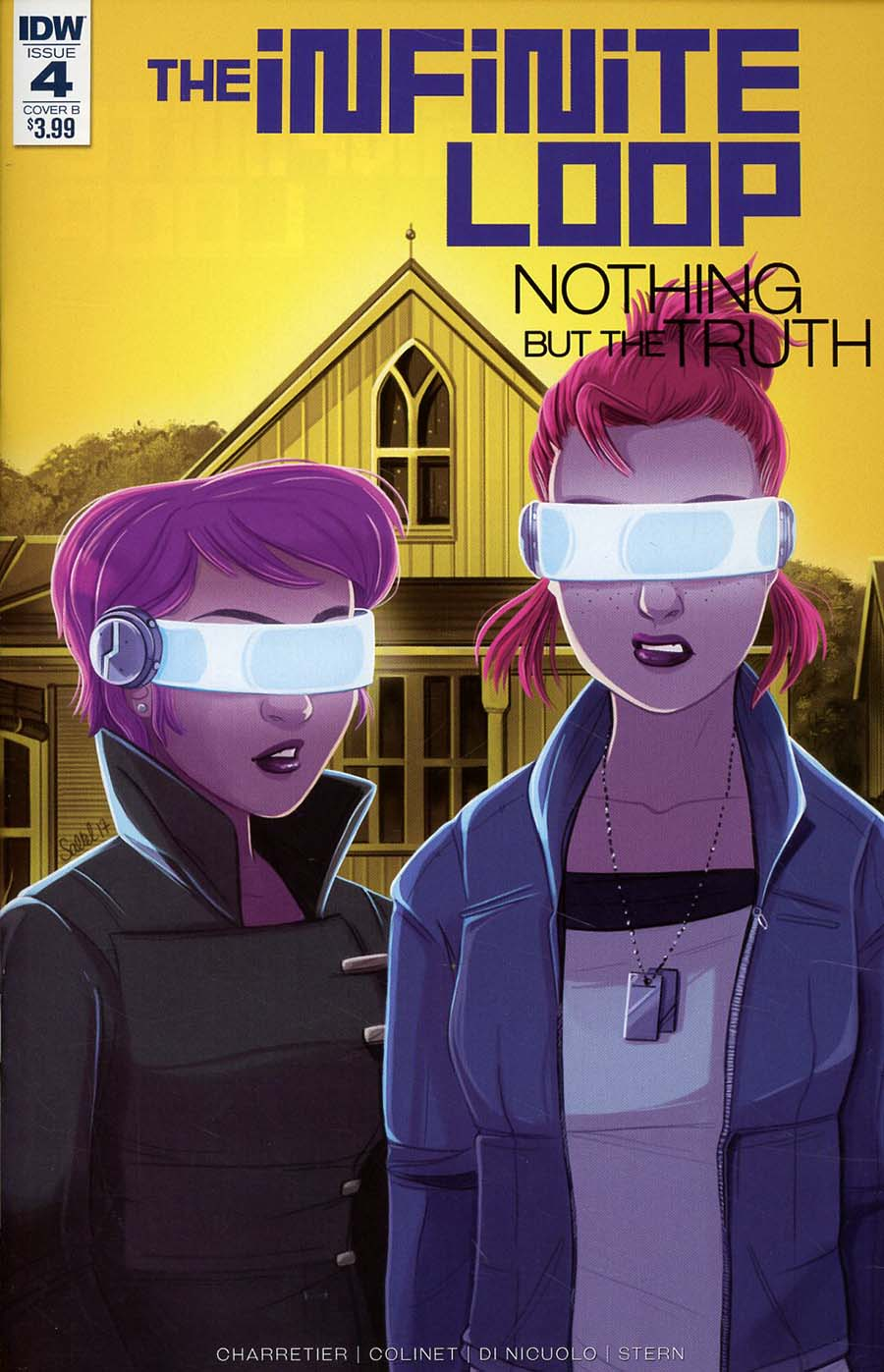 Infinite Loop Nothing But The Truth #4 Cover B Variant Margaux Saltel Cover