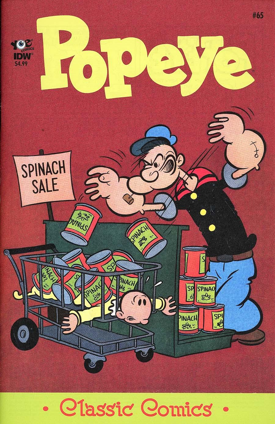 Classic Popeye #65 Cover A Regular Bud Sagendorf Cover
