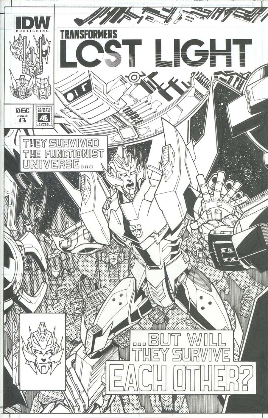 Transformers Lost Light #13 Cover C Variant Alex Milne Artists Edition Cover