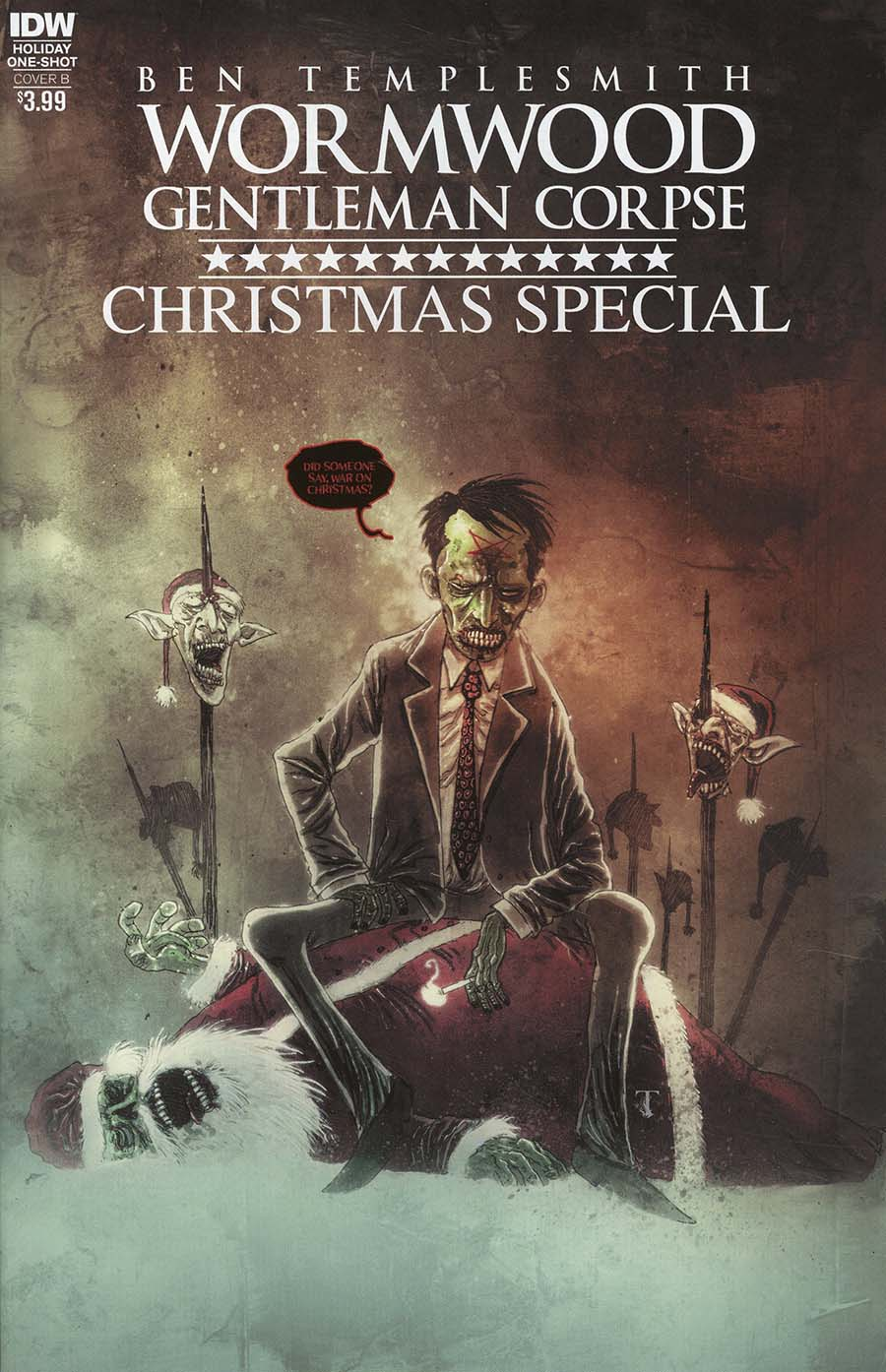 Wormwood Gentleman Corpse Christmas Special Cover B Variant Ben Templesmith Cover
