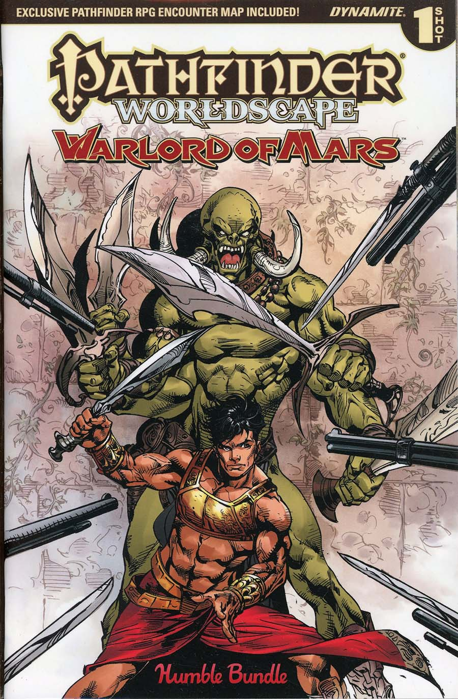 Pathfinder Worldscape Warlord Of Mars One Shot Humble Bundle Exclusive