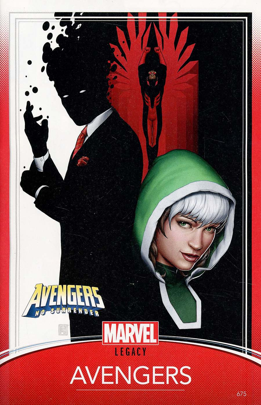 Avengers Vol 6 #675 Cover C Variant John Tyler Christopher Trading Card Cover (No Surrender Part 1)(Marvel Legacy Tie-In)
