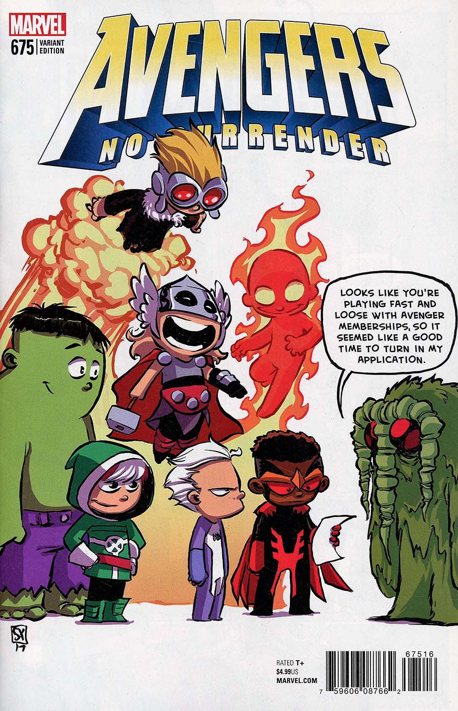 Avengers Vol 6 #675 Cover E Variant Skottie Young Baby Cover (No Surrender Part 1)(Marvel Legacy Tie-In)