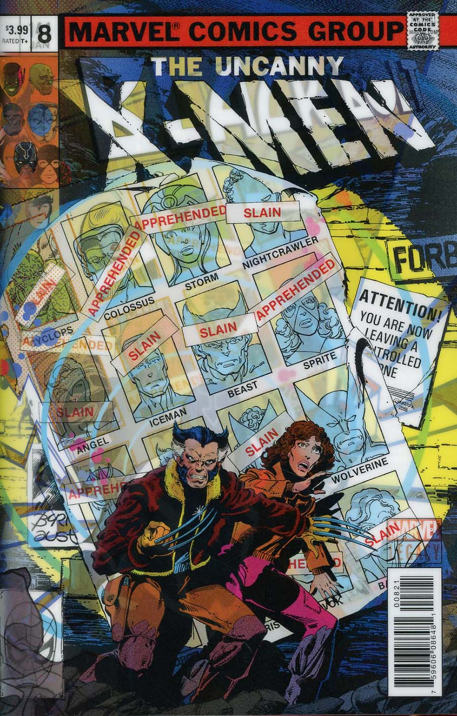 Black Bolt #8 Cover B Variant Christian Ward Lenticular Homage Cover (Marvel Legacy Tie-In)