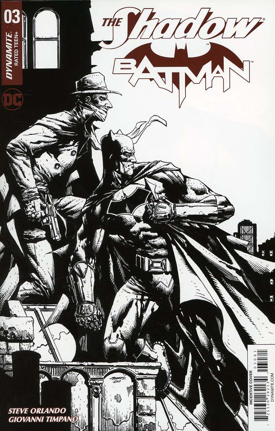 Shadow Batman #3 Cover H Incentive Johnny Desjardins Black & White Cover
