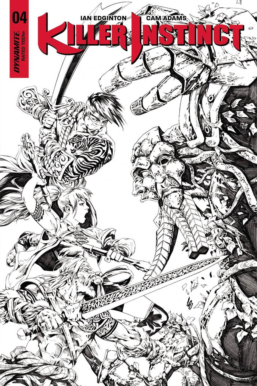 Killer Instinct Vol 2 #4 Cover D Incentive Jonathan Lau Black & White Cover