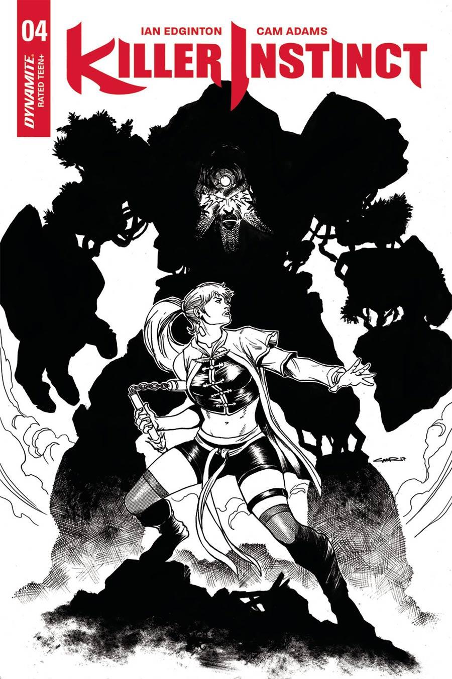 Killer Instinct Vol 2 #4 Cover E Incentive Yildiray Cinar Black & White Cover