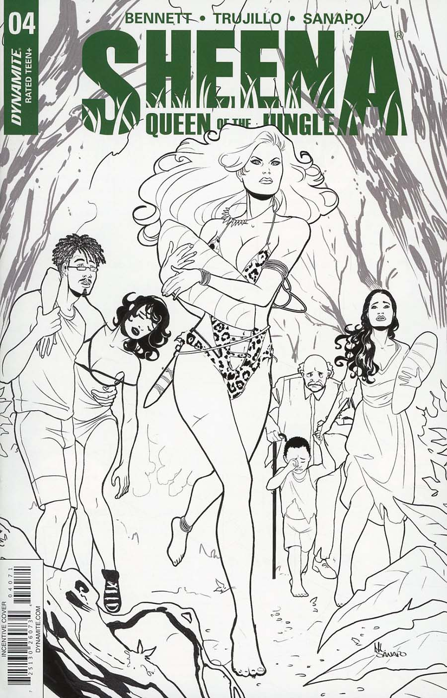 Sheena Vol 4 #4 Cover G Incentive Maria Sanapo Virgin Cover