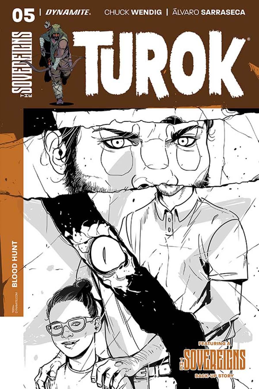 Turok Vol 2 #5 Cover C Incentive Alvaro Sarraseca Black & White Cover
