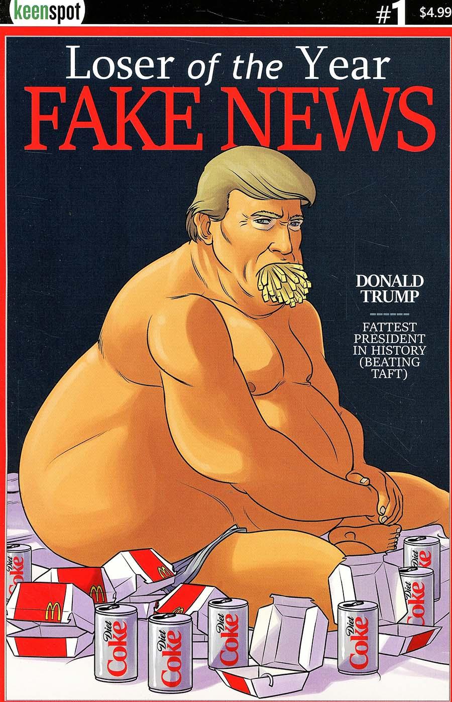 Trumps Titans vs Mark Zuckerberg #1 Cover C Variant Very Very Fake News Cover