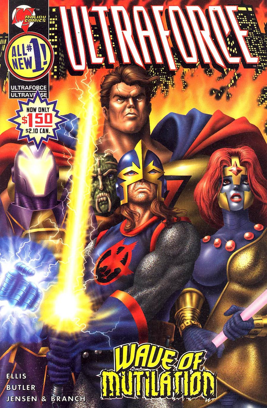 Ultraforce Vol 2 #1 Painted Cover