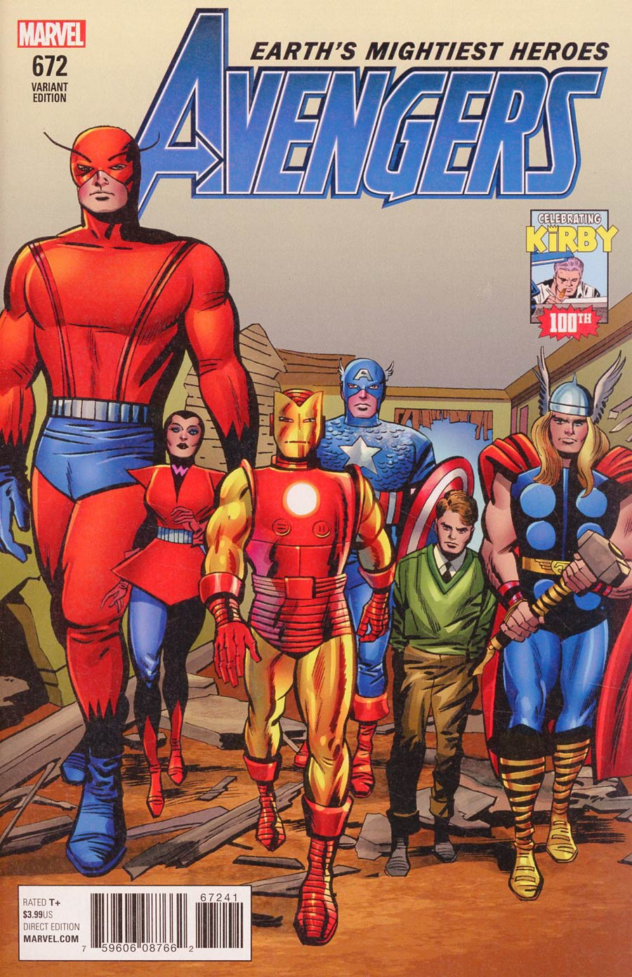 Avengers Vol 6 #672 Cover D Incentive Jack Kirby 100th Anniversary Variant Cover (Worlds Collide Part 1)(Marvel Legacy Tie-In)