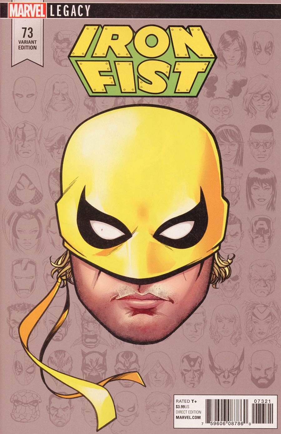 Iron Fist Vol 5 #73 Cover C Incentive Mike McKone Legacy Headshot Variant Cover (Marvel Legacy Tie-In)